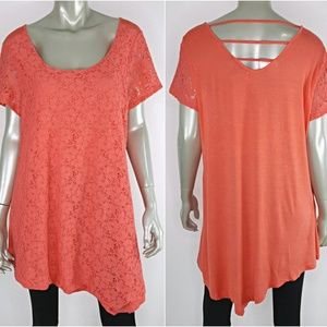 French Laundry Plus Size 1X Stretch Tunic Top
